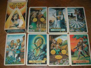 Arcus Arcanum Tarot Vtg Collectible Cards Very Good Cond