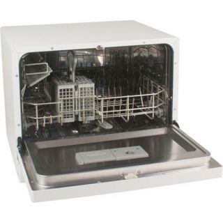 Koldfront Countertop Dishwasher 6 Setting White Compact Portable Dish