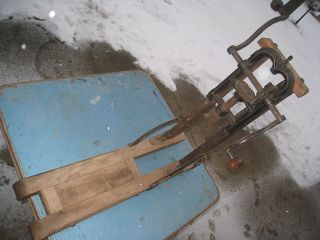 Antique Barn Beam Drill Auger Old Primitive Farm Tool