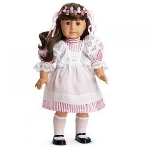 SAMANTHAS BIRTHDAY PARTY PINAFORE LACE APRONS FOR AMERICAN GIRL DOLL