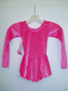 NEW Sparkle Hot Pink First Glide by Del Arbour Ice Skating Dress