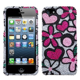 For Apple iPhone 5 Cell Phone Case Cover Bling Rhinestones Fantastic