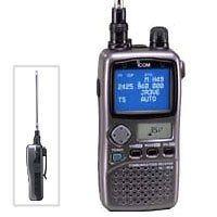 ICOM IC R3ss Wideband Receiver Handheld Scanner Radio Antenna VHF UHF