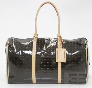 Arcadia Black Patent Leather Duffle Bag