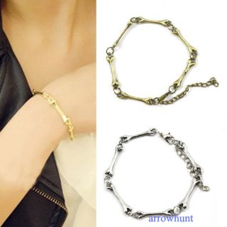 New Coming Cool Rock Punk Gothic Metal Bone Chain Bracelet Free SHIP