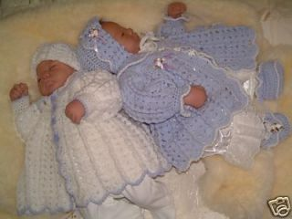 crochet pattern cuddl y reborn baby twins matinee set time