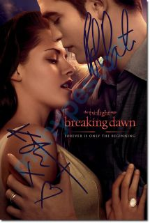 TWILIGHT SAGA BREAKING DAWN ROBERT PATTINSON & KIRSTEN STEWART SIGNED