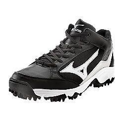 Mizuno Mens Spike Blast 3 Black White Baseball Shoes