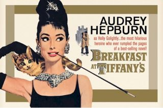 audrey hepburn breakfast tiffanys gold movie poster PYR32424