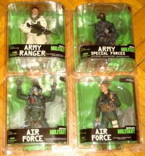 McFarlane Military Series 7 Air Force Halo Jumper Fighter Pilot Army