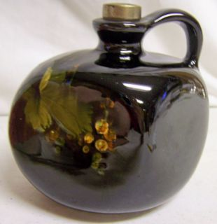 ANTIQUE OLD WELLER POTTERY LOUWELSA PATTERN GRAPES SMALL JUG DICKENS