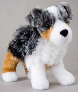 Steward Douglas 7 Plush Australian Shepherd Dog Stuffed Animal Cuddle