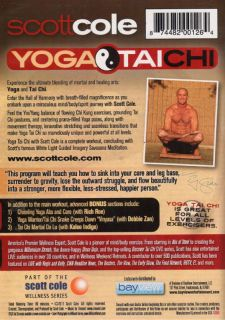 SCOTT COLE YOGA TAI CHI EXERCISE DVD NEW SEALED WORKOUT FITNESS