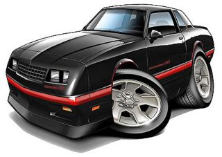Monte Carlo SS Turbo Fire Cartoon Car Wall Decal Home Decor
