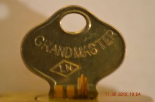 Sargent Cast Bronze Pin Tumbler Cutaway Antique Padlock Lock with Key