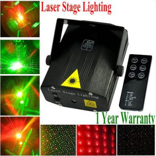 Black Mini Laser Stage Light DJ Disco Party Lighting Show Bar Club Pub