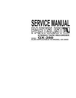 AKAI Repair Service Manual GX 280 gx280 Gx280D Gx 280D Paper!