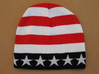 UNITED STATES AMERICAN FLAG PATRIOTIC USA STARS STIRPES Beanie Cap