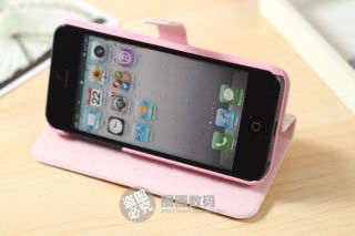 Cute Birdcage Stand Leather Pouch Case Cover Holster for Apple iPhone