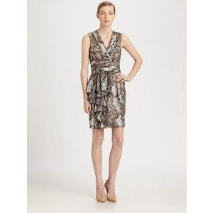 NWT Moschino Cheap Chic Silk dress with snake print Size It 40