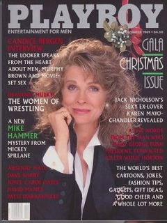 PLAYBOY DECEMBER 1989 CANDICE BERGEN PETRA VERKAIK MIKE HAMMER MICKEY