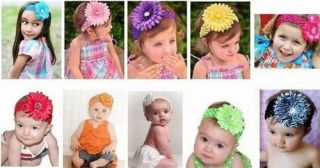 Baby Girl Boy Toddler Daisy Flower Crystal Diamante Headband Hairband