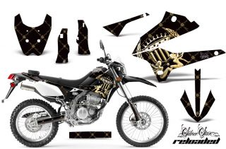 AMR RACING MOTORCROSS D TRACKER DIRT BIKE STICKER KIT KAWASAKI KLX 250