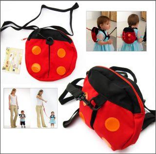 Baby Toddler Safety Harness Backpack Strap Walker Reins Ladybug Bat