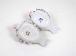 Figural Swan Cigarette Holder Dish with Matching Swan Ashtrays