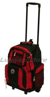 18 Large Rolling Backpack Wheeled College Bookbag Travel Carry on New
