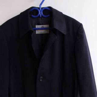 AQUASCUTUM London Belted Trench Coat Navy Blue Large