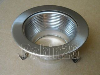 inch Recessed Can Light Trim Baffle 120V Steel Silver