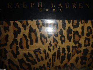 New Ralph Lauren *ARAGON* TWIN FLAT SHEET NIP Leopard Animal Print