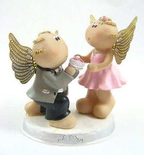Cute RUSS BERRIE ANGEL CHEEKS FIGURINE   GUARDIAN ANGELS   The
