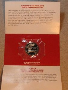 1998 $5 Marshall Islands Heroes of The Berlin Airlift Commemorative