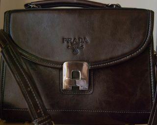 Prada Milano Brown Leather Handbag Lowered Price Must Sell Last Chance