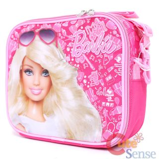 Barbie School Lunch Bag Pink Jewels Insulated Food Box