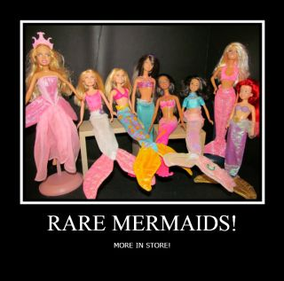 Barbie Skipper Mermaid Big Lot Ariel Mermaidia Gown Clothing
