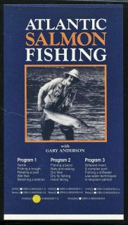 Atlantic Salmon Fishing with Gary Anderson Fly Fishing VHS Video 1984