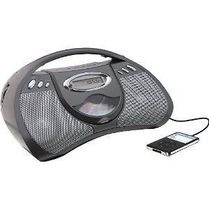CD PLAYER AC OR BATTERY POWER AM FM RADIO & LINE IN FOR MP3 PLAYER