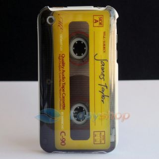 Audio Cassette Magnetic Tape Hard Case Cover for Apple iPhone 3G 3GS