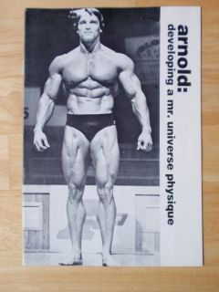 Arnold Schwarzenegger Developing A Mr Universe Physique Muscle Booklet
