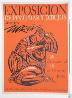 Exposicion de Pinturas Y Dibujos 1964 Augusto Marin