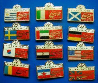 1990 Italy Soccer Football Worldcup Coca Cola Complete Set 24 Teams