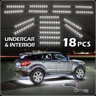 White 162 LED Car Interior Low Profile Under Body Light Slim Tube EZ