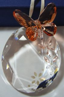 Swarovski Crystal Butterfly Hanging Ornament 899377 Mint in Box