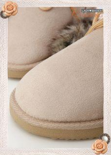 warm♥ Womens Australian Classic Faux Furs Boots Beige