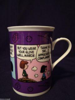 Danbury Mint June Baseball Season Peanuts Snoopy Mug Cup