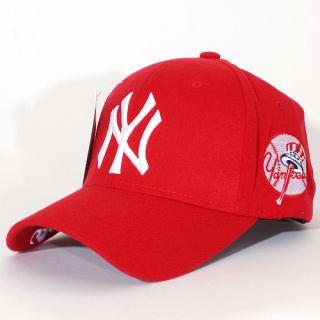 New York Yankees Flex Fit Band Hats Baseball Ball Cap Red White