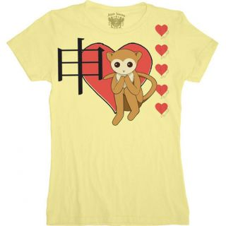 Fruits Basket Heart Monkey Juniors Yellow Anime T Shirt